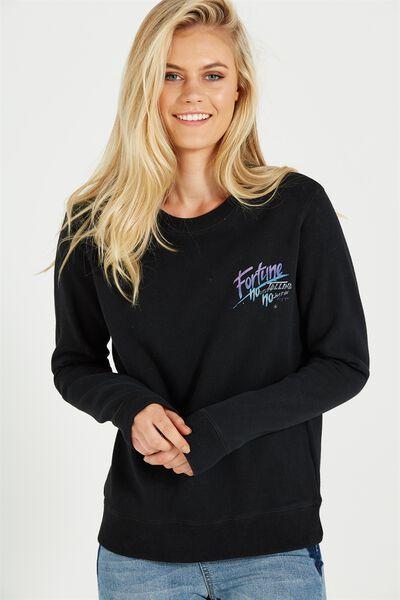 Ferguson Graphic Crew Sweater, FORTUNE/BLACK