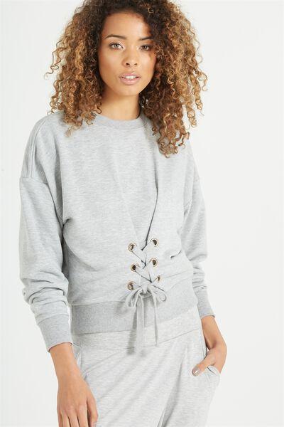 Cora Corset Sweater, GREY MARLE
