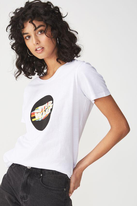 Star Wars Graphic T Shirt, LCN STAR WARS ROUND LOGO/WHITE