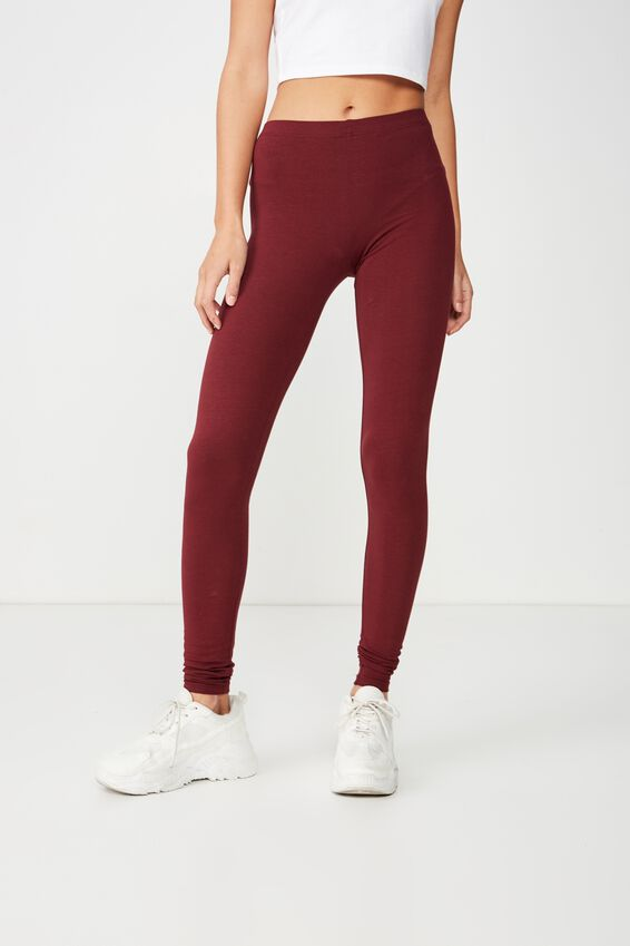 Dylan Long Leggings, ZINFANDEL