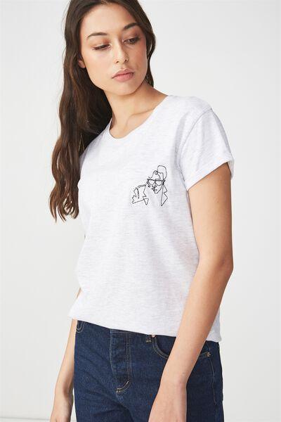 Tbar Fox Graphic T Shirt, LW FRANK/SILVER MARLE