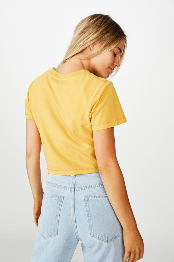 The Baby Tee, WASHED HONEY GOLD