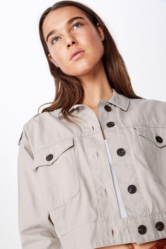 Elsa Military Eisenhower Jacket, SLEET