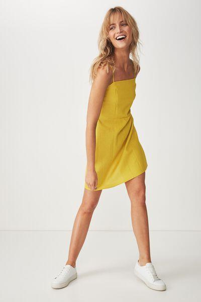 Woven Krissy Dress, ANTIQUE MOSS - L