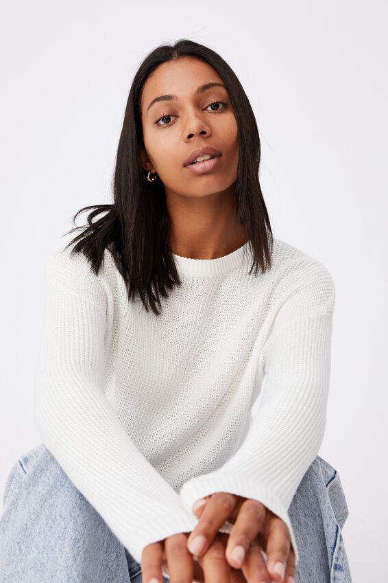 Cotton Pullover, SNOW WHITE