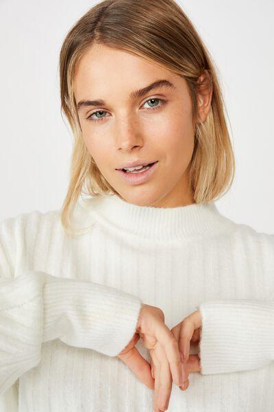 The Nessa Rib Pullover, CLOUD DANCER