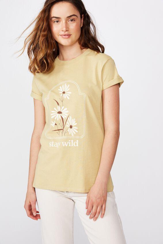 Classic Arts T Shirt, STAY WILD/RAFFIA