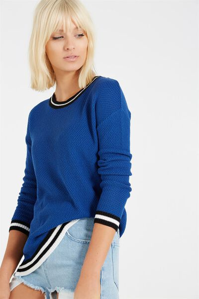 Archy 3 Pullover, COBALT / TIPPING