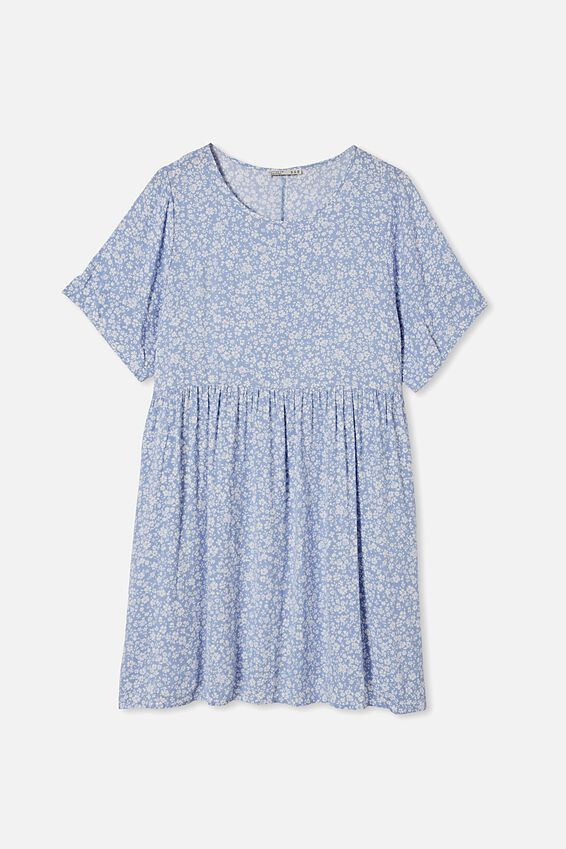 Curve Good Times Babydoll Mini Dress, NICOLE DISTY VINTAGE BLUE