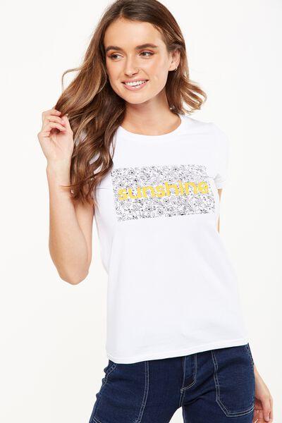 Tbar Hero Graphic T Shirt, SUNSHINE/WHITE
