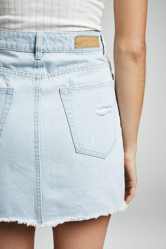 The Classic Denim Skirt, BONDI BLUE