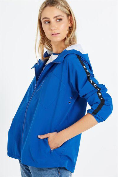 Willow Windbreaker Jacket, COBALT