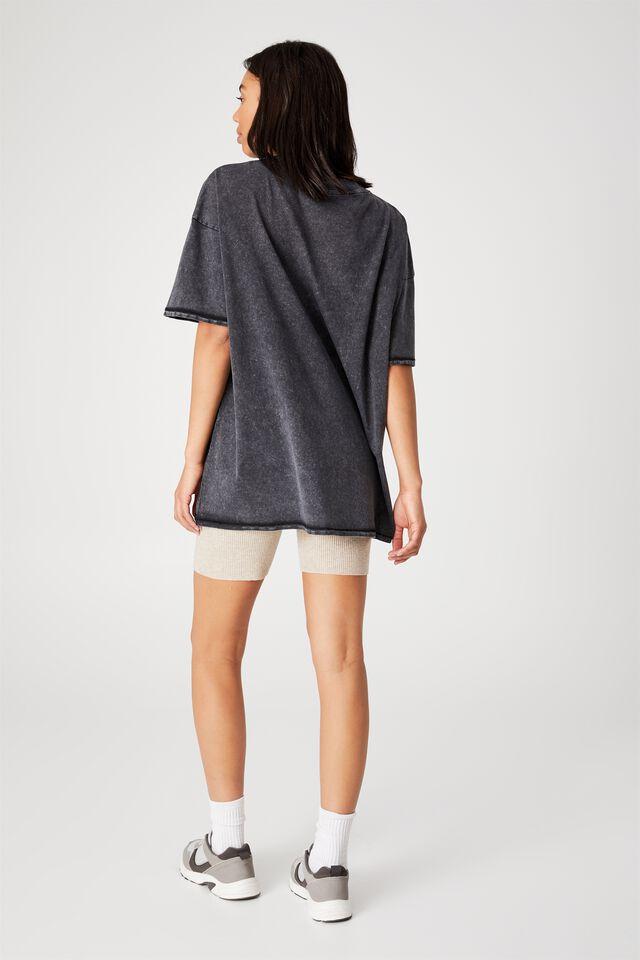 Oversized Graphic T Shirt Dress, WEST COAST SPEEDWAY/BLACK