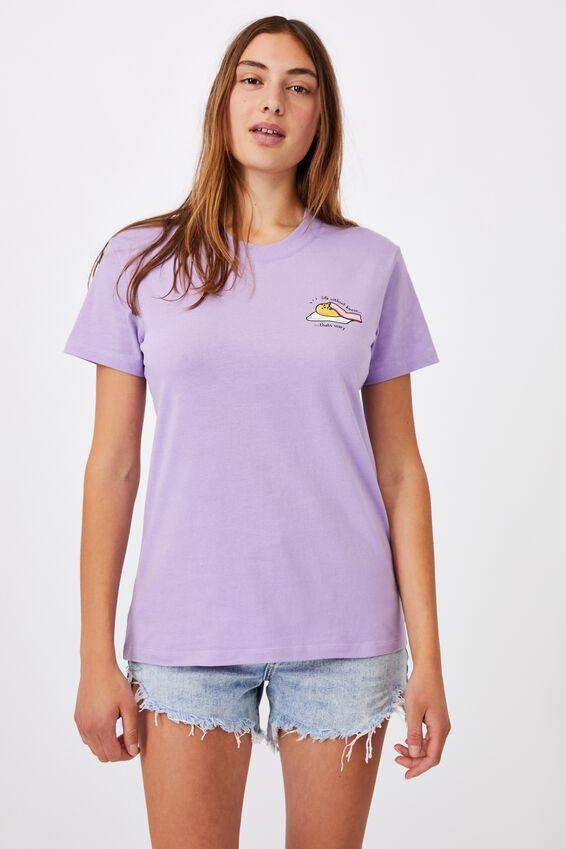 Classic Pop Culture T Shirt, LCN SAN GUDETAMA BACON/PURPLE POTION