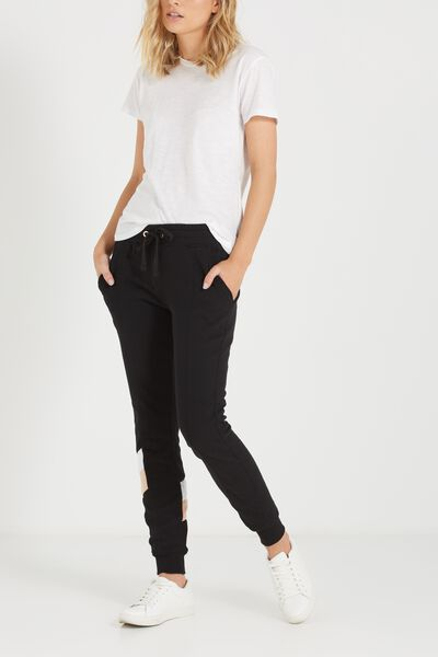 Adele Trackpant, BLACK/MUSK/WHITE