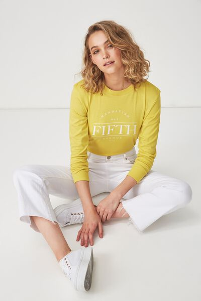 Tbar Tammy Chopped Graphic Long Sleeve Tee, FIFTH AVENUE/AMBER GREEN