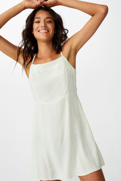 Woven Kendall Mini Dress, TAYLAH DITSY NEO MINT