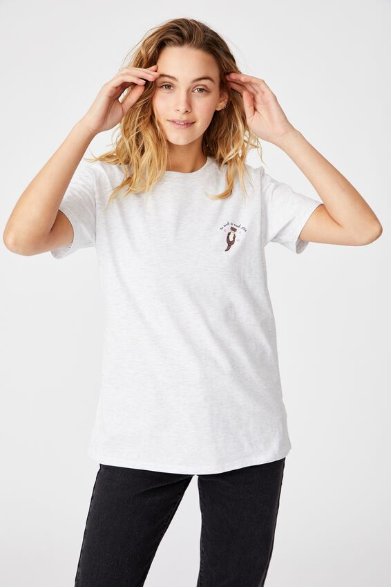 Classic Arts T Shirt - Silver Marle, KIND OTTER/SILVER MARLE