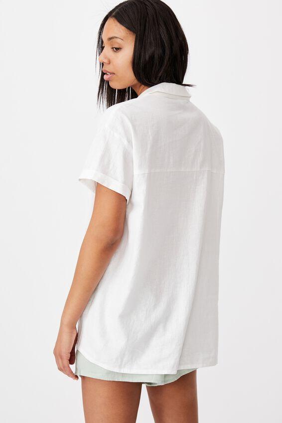 Poolside Shirt, WHITE