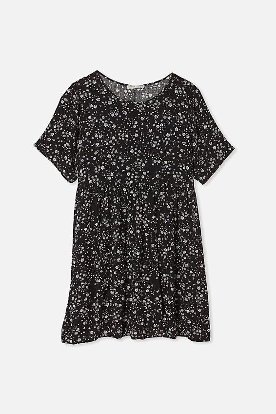 Curve Good Times Babydoll Mini Dress, MARIE DITSY BLACK