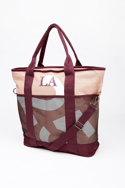 Heather Tote Bag, PINK/PLUM