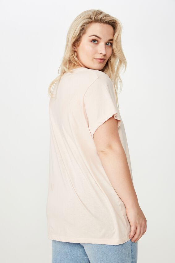 Curve Graphic Tee, FEMME & FIERCE/PINK SAND