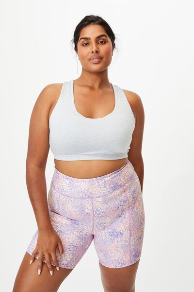 Curve Active High Rise Bike Short, WILD SPLATTER LILAC