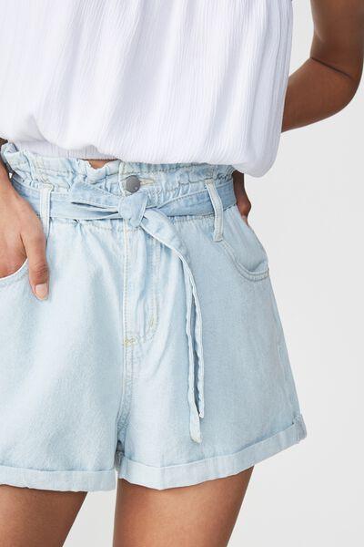 Paperbag Short, BLEACH LIGHT BLUE