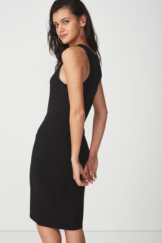 Kellie Muscle Midi, BLACK