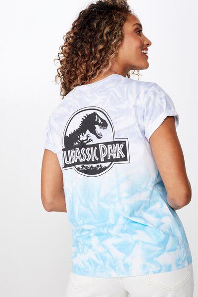 Classic Tv Movie T Shirt, LCN UNI JURASSIC PARK LOGO OMBRE/WHITE