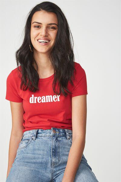 Tbar Hero Graphic T Shirt, DREAMER/CHILLI RED