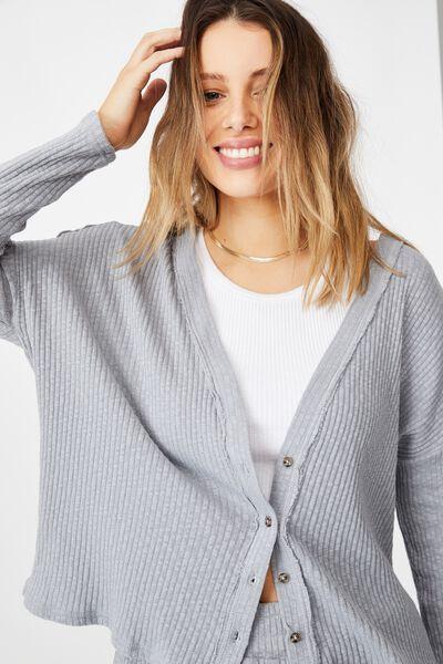 Gigi Long Sleeve Cardigan, TRADEWINDS