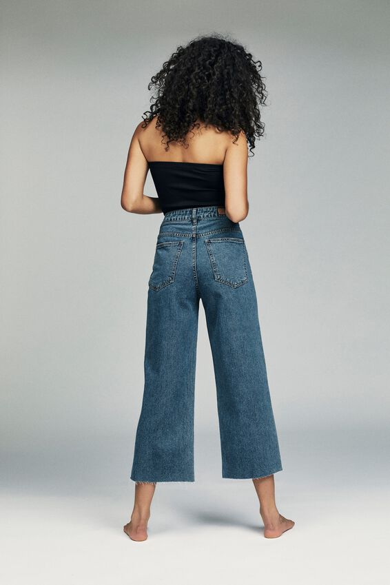 Wide Leg Cropped Jean, BERKLEY BLUE