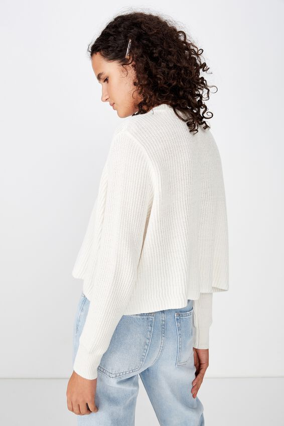 Archy Cropped 2 Pullover, GARDENIA