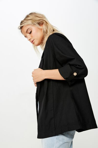 Deconstructed Soft Blazer, BLACK