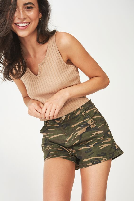 Panel Pocket Chino Short, CAMO