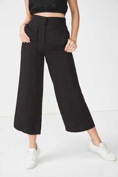 Wide Leg Drapey Pant 2, BLACK