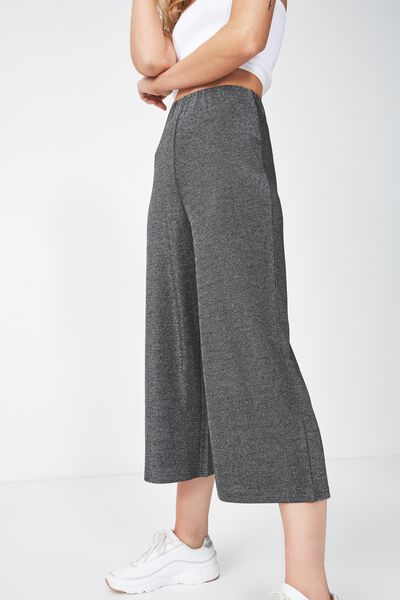 Marlee Luxe Culotte, BLACK/SILVER SPARKLE