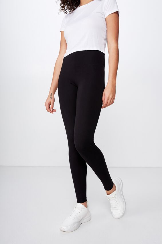 Chelsea High Waisted Legging, BLACK PONTE