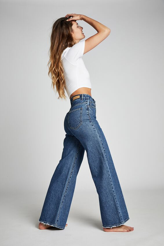 Long Wide Leg Jean, COOGEE BLUE