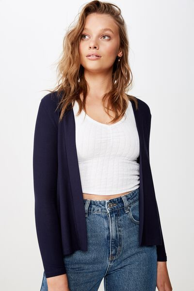 Danielle Long Sleeve Cardi, MOONLIGHT