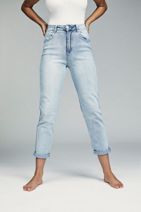 Stretch Mom Jean, BABY BLUE