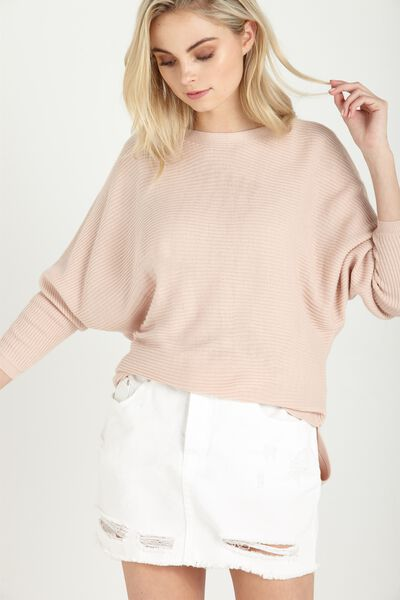 Batwing Lounge Pullover, DUSKY PINK