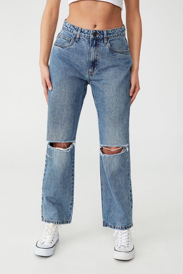 Petite Straight Jean, WATEGOS BLUE RIP
