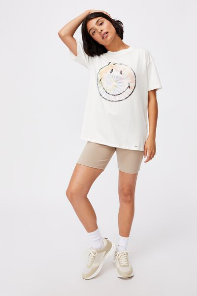 The Original Graphic License Tee, LCN SMI SMILEY CIRCLE TIE DYE/VINTAGE WHITE