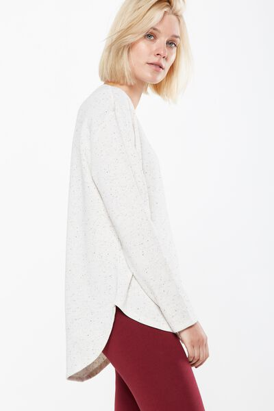 Gomez Light Weight Sweater, OAT MARLE NEP