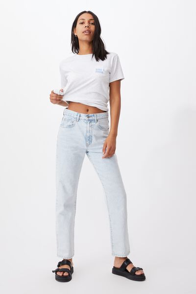 Classic Slogan T Shirt Silver Marle, GIVE A DAMN/SILVER MARLE