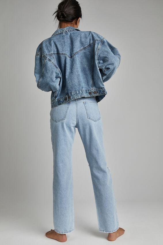 90 S Denim Jacket, JETTY BLUE