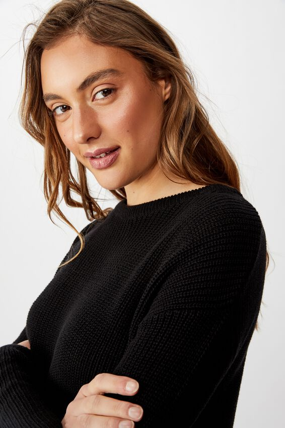 Archy 6 Pullover, BLACK
