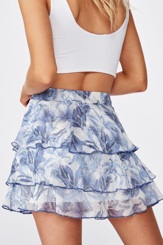 Piper Mini Skirt, BRIT TROPICAL MOOD INDIGO